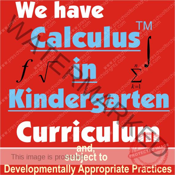 Calculus in Kindergarten 570