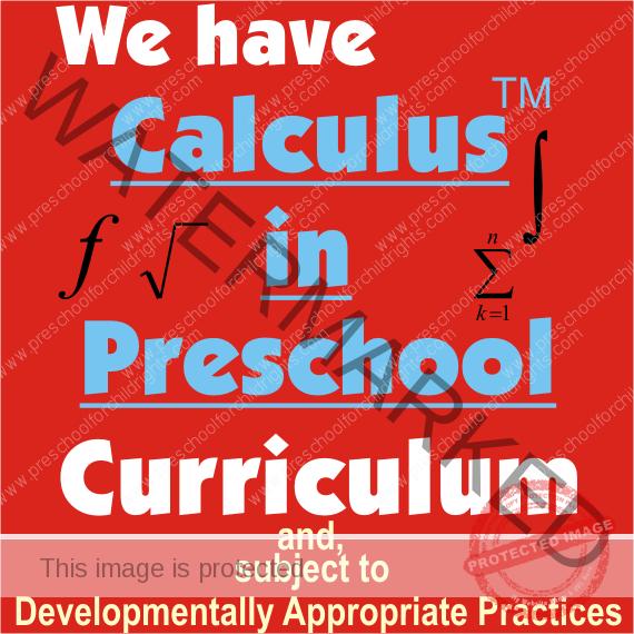 Calculus in Preschool 570
